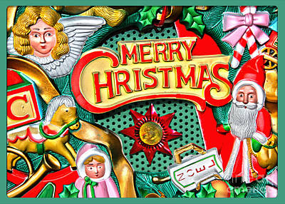 Photograph - Vintage Christmas Sign by Gabriele Pomykaj