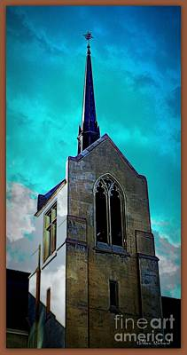 Photograph - Vintage Church Steeple by Bobbee Rickard