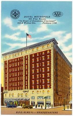 1940s Mixed Media - Vintage Cincinnati Postcard by Mountain Dreams