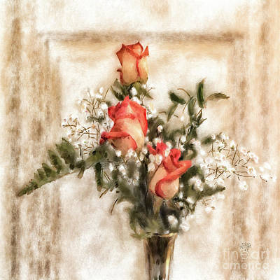 Digital Art - Vintage Circus Roses by Lois Bryan