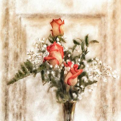 Digital Art - Vintage Circus Roses by Lois Bryan