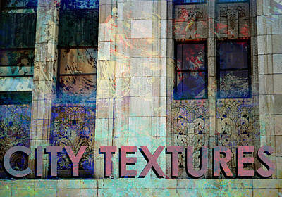 Mixed Media - Vintage City Textures by John Fish