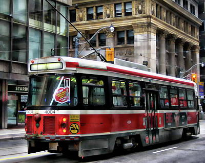 Photograph - Vintage City Trolley by Anthony Dezenzio