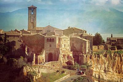 Photograph - Vintage Civita Di Bagnoregio Italy by Joan Carroll