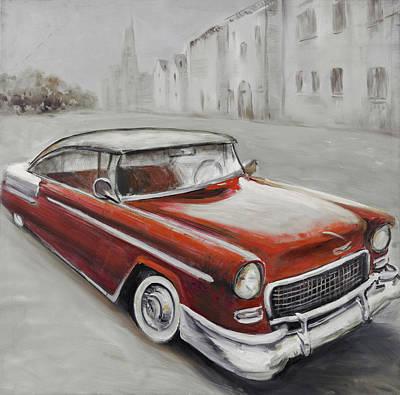 Applique Painting - Vintage Classic Car by Atelier B Art Studio