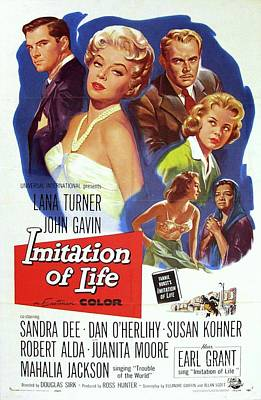 Surrealism Royalty-Free and Rights-Managed Images - Vintage Classic Movie Posters, Imitation of Life by Esoterica Art Agency