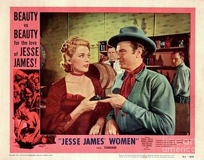 Royalty-Free and Rights-Managed Images - Vintage Classic Movie Posters, Jesse James Women by Esoterica Art Agency