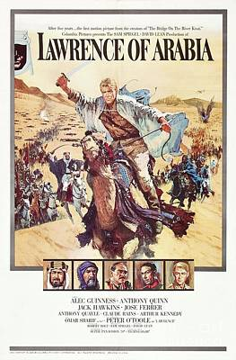 Food And Flowers Still Life - Vintage Classic Movie Posters, Lawrence of Arabia by Esoterica Art Agency