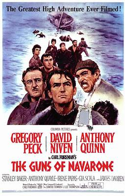 Surrealism Royalty-Free and Rights-Managed Images - Vintage Classic Movie Posters, The Guns of Navarone by Esoterica Art Agency