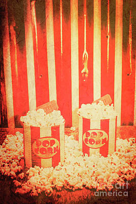 Popcorn Photograph - Vintage Classical Cinema Interval Concept by Jorgo Photography - Wall Art Gallery