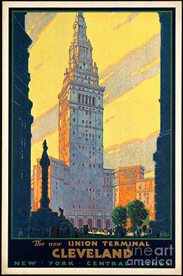 Photograph - Vintage Cleveland Travel Poster by George Pedro