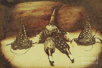 Clown Photograph - Vintage Clown Doll. Old Parties by Jorgo Photography - Wall Art Gallery