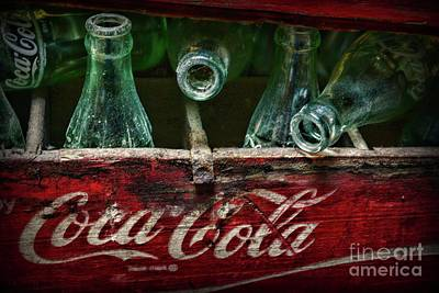 Photograph - Vintage Coca Cola Bottles Very Dusty by Paul Ward