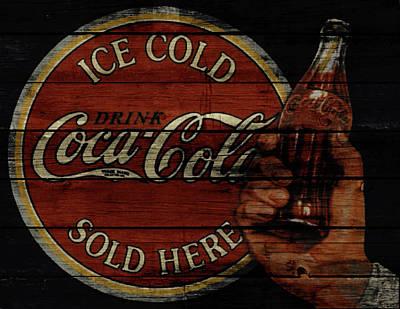 Coca-cola Signs Mixed Media - Vintage Coca Cola Sign 1a by Brian Reaves