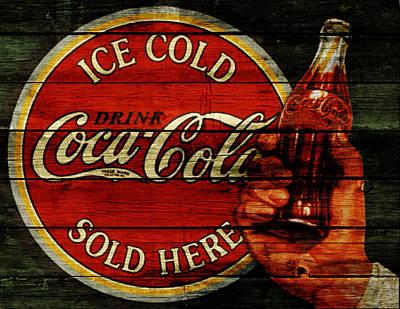 Coca-cola Signs Mixed Media - Vintage Coca Cola Sign 1b by Brian Reaves