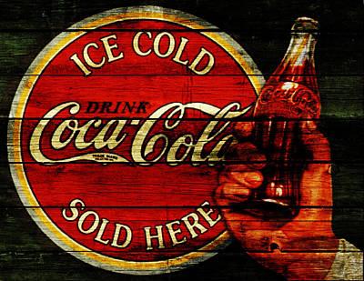 Coca-cola Signs Mixed Media - Vintage Coca Cola Sign 1c by Brian Reaves
