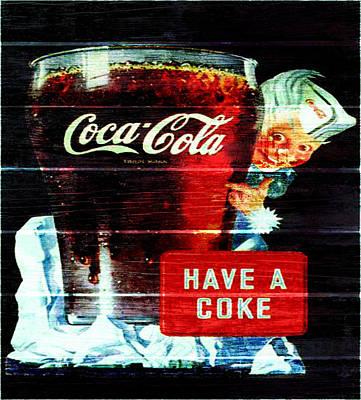 Coca-cola Signs Mixed Media - Vintage Coca Cola Sign 1d                     by Brian Reaves