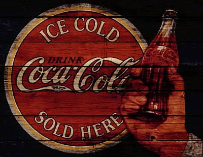 Coca-cola Signs Mixed Media - Vintage Coca Cola Sign by Brian Reaves