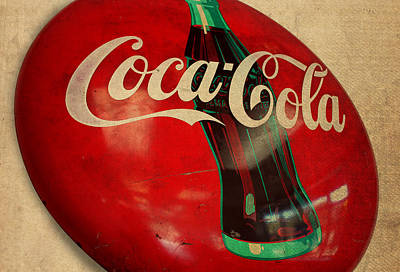 Signed Mixed Media - Vintage Coca Cola Sign by Design Turnpike