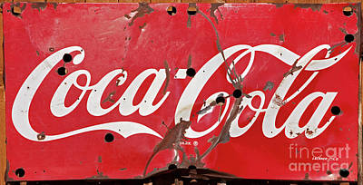 Photograph - Vintage Coca Cola Sign by John Stephens