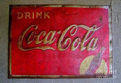 Vintage Coca-cola Sign Art Print