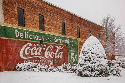 Photograph - Vintage Coca Cola Sign New Albany Mississippi by T Lowry Wilson