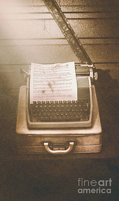 Typewriter Photograph - Vintage Code Breaking Enigma Machine  by Jorgo Photography - Wall Art Gallery