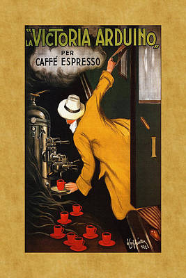 Photograph - Vintage Coffee Advertisement 1 by Andrew Fare