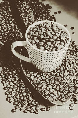 Sepia Photograph - Vintage Coffee Art. Stimulant by Jorgo Photography - Wall Art Gallery