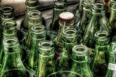 Photograph - Vintage Coke Bottles by Mike Eingle