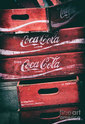 Photograph - Vintage Coke Crates by Tim Gainey
