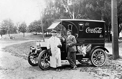 Chevy Truck Photograph - Vintage Coke Delivery Truck by Jon Neidert
