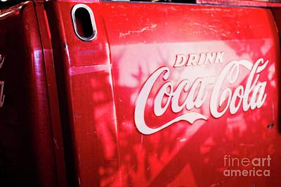 Photograph - Vintage Coke Ice Chest by Ella Kaye Dickey