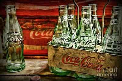 Cocacola Photograph - Vintage Coke Metal Six Pack Carrier  by Paul Ward