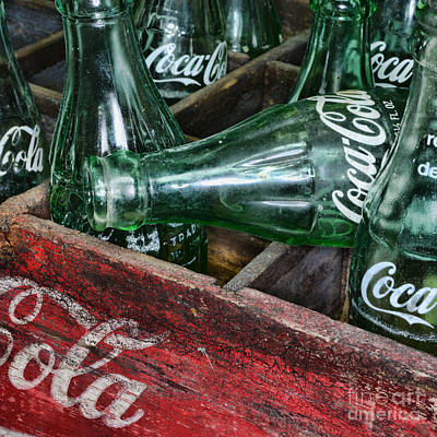 Vintage Coke Square Format Art Print by Paul Ward