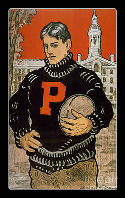 University Of Arizona Drawing - Vintage College Football Princeton by Edward Fielding