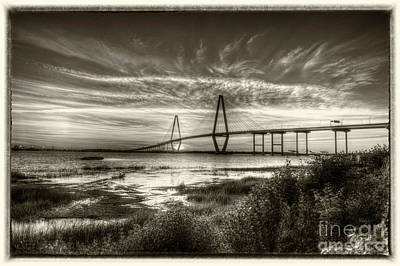 Photograph - Vintage Cooper River Bridge by Dale Powell
