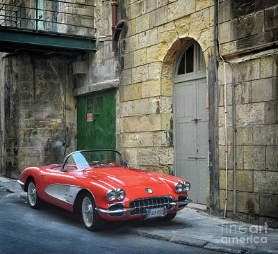 Photograph - Vintage Corvette In Valletta by Stephan Grixti