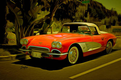 Photograph - Vintage Corvette Pismo Beach California 2 by Floyd Snyder
