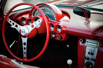 Cockpit Photograph - Vintage Corvette by Scott Webb