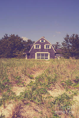 Photograph - Vintage Cottage Cape Cod by Edward Fielding