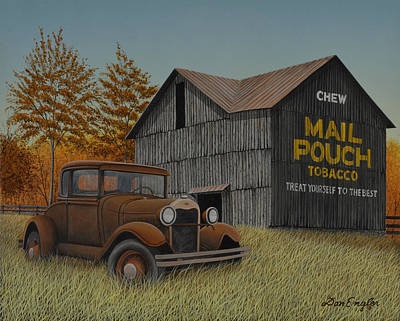 Mail Pouch Barn Painting - Vintage Country by Don Engler