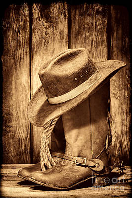 Photograph - Vintage Cowboy Boots by American West Legend By Olivier Le Queinec
