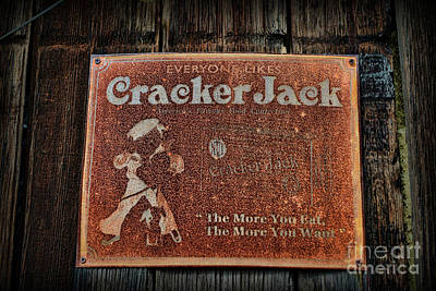 Photograph - Vintage Cracker Jack Sign by Paul Ward