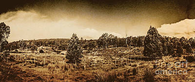 Photograph - Vintage Cradle Mountain Panorama by Jorgo Photography - Wall Art Gallery
