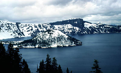 Photograph - Vintage Crater Lake Oregon 1950s by Marilyn Hunt