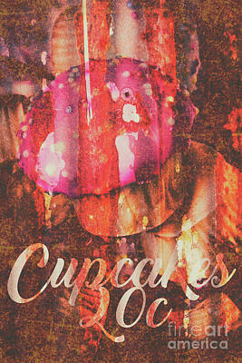 Vintage Cupcake Tin Sign Art Print by Jorgo Photography - Wall Art Gallery