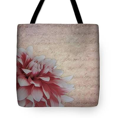 Photograph - Vintage Dahlia Tote by Teresa Wilson