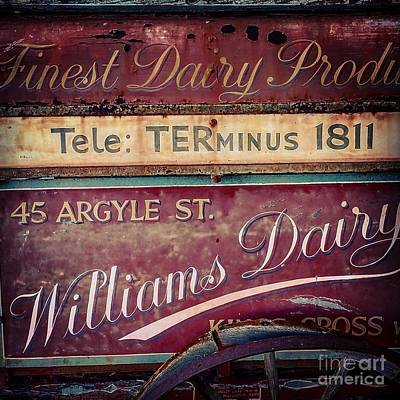 Painting - Vintage Dairy Sign by Gregory Dyer