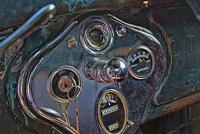 Photograph - Vintage Dashboard 1929 Ford by Alana Thrower